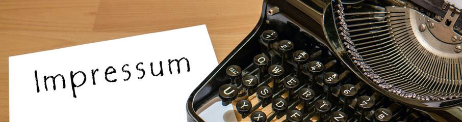 impressum Alte Schreibmaschine