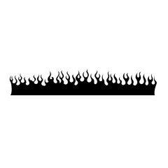 fire icon flames vector illustration - isolated sign fire