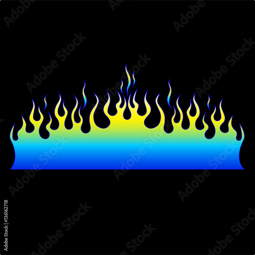 colored tribal flames it can be used for tattoos and other designs