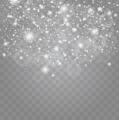 White sparks and stars glitter special light effect.