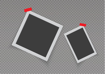 The frame on the wall.transparent background vector illustration