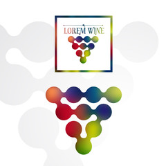 wine label logo design