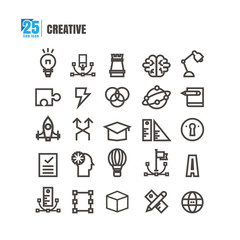 icons Creative idea degree Startup brain vector on white background