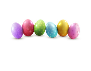 Vector easter eggs, isolated on white background. Element for ce