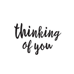 Thinking of You Lettering