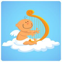 Baby And Harp