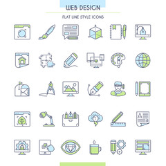 Website design icons