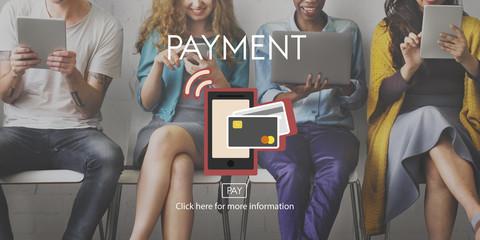 Payment NFC Near Field Communication Mobiel Wallet Online Concep