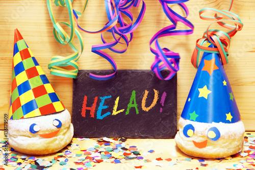Fasching Karneval Fastnacht Tafel Mit Schrift Helau