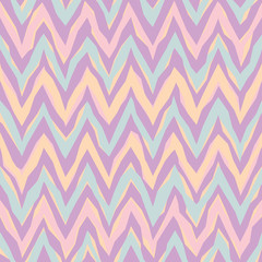 Abstract Zigzag Pattern in pastels repeats seamlessly.
