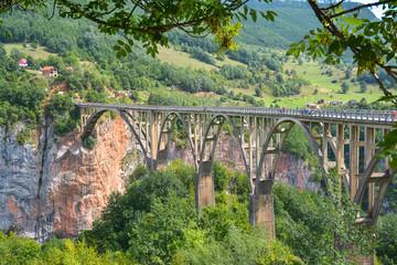 Dzhurchdzhevicha bridge in the mountains of Montenegro