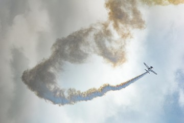 Airshow Airplane With Smoke