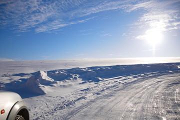 зимняя дорога пейзаж