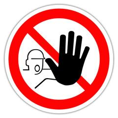 Panneau : Restriction entrée