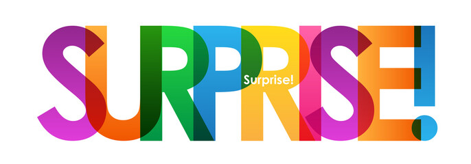 SURPRISE Colourful Vector Banner