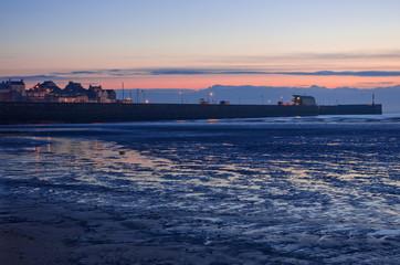 Bridlington South Pier at Dawn Bridlington Harbour South Pier at dawn. East Riding of Yorkshire.