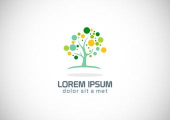 tree abstract nature botany logo