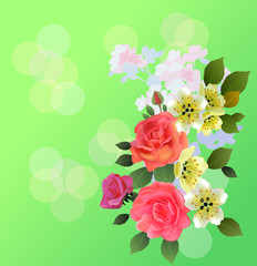 Spring , bouquet of flowers .