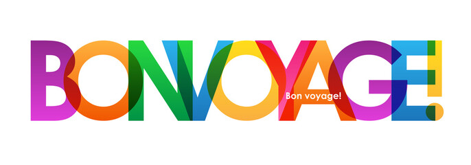 BON VOYAGE Colourful Letters Banner