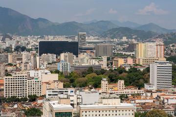 Skyline of Buildings in Rio de Janeiro City Center