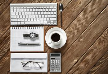 Business still life concept . Mixed media