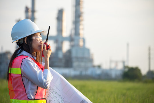 The women engineer at power plant, Thailand .