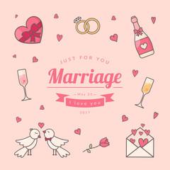 Wedding card template.