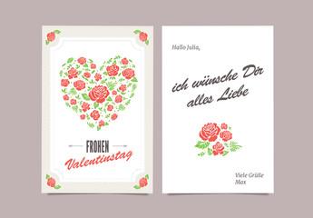 Valentinstagskarte mit Blumen