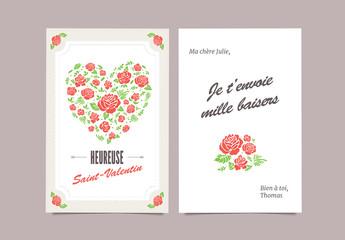 Carte fleurie pour la Saint-Valentin