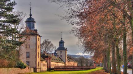 Foto auf Leinwand Schloss Blick auf Schloss Corvey bei Höxter.