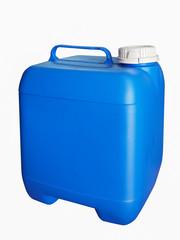 Blue plastic gallon