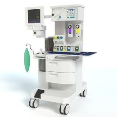 3d illustration of a anesthesia machine