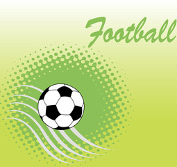 Square football green banner