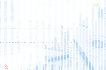business graph with calculator. business concept. close up.