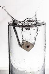 dice water splash