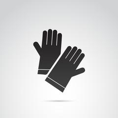 Protective gloves vector icon.