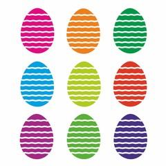 Wielkanoc, kolorowe jajka, pisanki