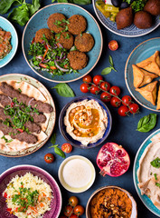 Arabic dishes and meze