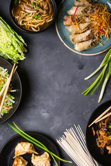 Wall Mural - Chinese food background