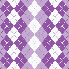 Dashed Argyle in Purple and White repeats seamlessly.