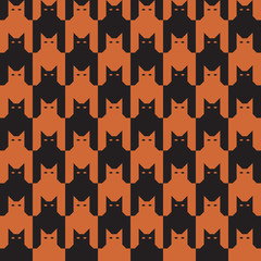 CatsTooth Pattern in Oranage and Black