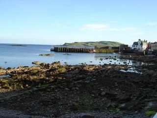 Scottish island harbour