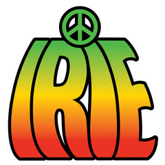 Ire Peace text design.
