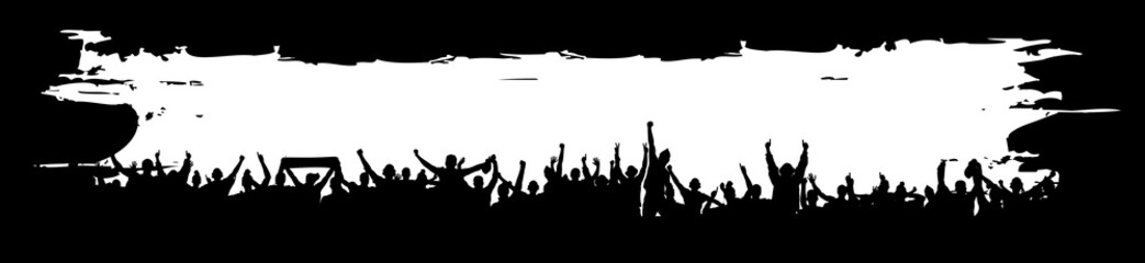 Background for sporting events and concerts.