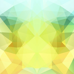 Abstract polygonal vector background. Light geometric vector illustration. Creative design template. Yellow, green, blue colors.