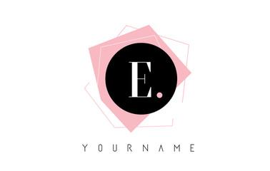 E Letter Pastel Geometric Shaped Logo Design.