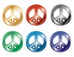 3D Peace Symbol collection