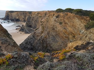 Cliffs on the Rota Vicentino, Alentejo, Portugal
