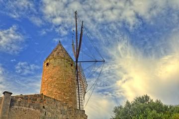 Aluminium Prints Mills Windmühle in Santa Margalida, Mallorca