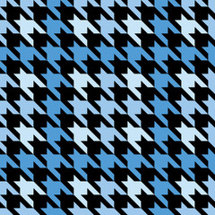 Plaid Houndstooth in Blue